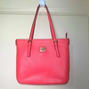 Anne Klein Satchel - Pebbled Faux Leather - Coral